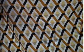 Telas motivos geométricos y 3D